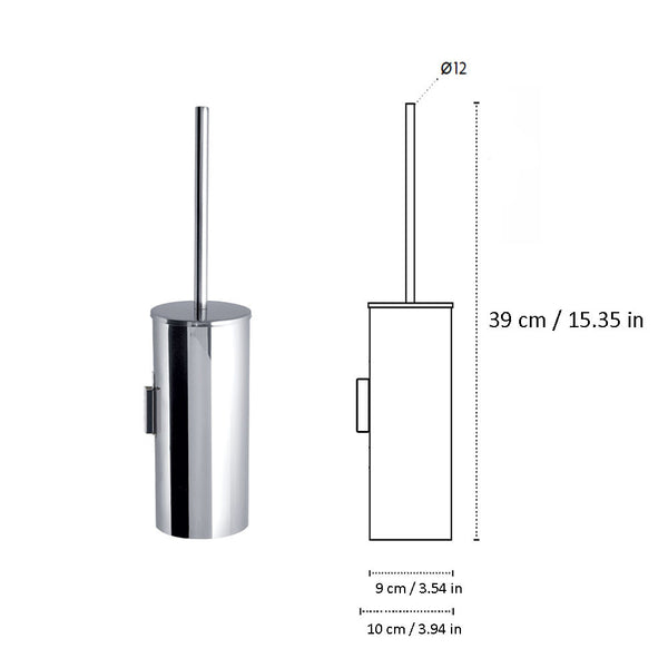 Kapitan Wall Mounted Toilet Brush and Holder - bath-accessories.co.uk