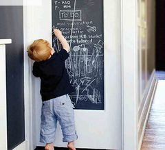 Creative Kids - 45x200cm Removable Chalk Board Vinyl Wall Decal-chalkboard wall decal-Kids Bargain World