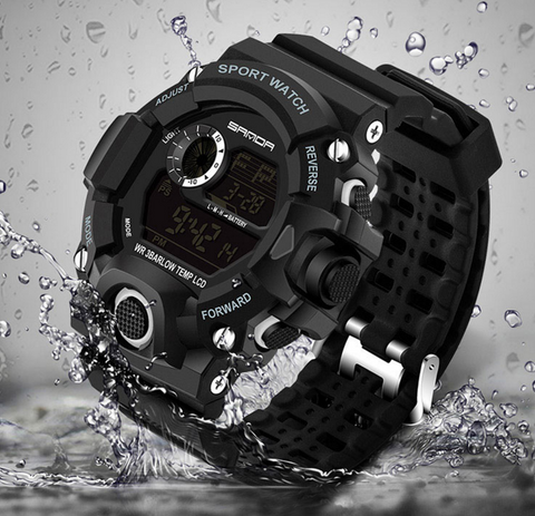 Digital LED Shock Waterproof Electronic Sports Watch