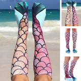 MERMAID KNEE HIGH SOCKS (One Zize Fits Most)-Girls clothes-Kids Bargain World