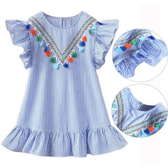 Girls Summer Striped Dress