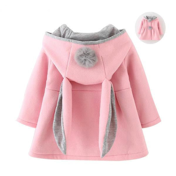 Gorgeous Rabbit Ear Hooded Coat For Girls-Kids Clothes-Kids Bargain World