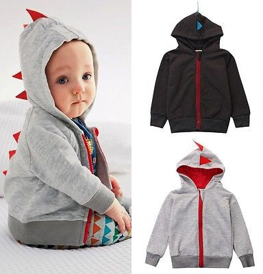 2017 Super Cute Dinosaur Hoodies 0-3Y