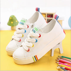 Kids Shoes Online - Spring 2017 Canvas Baseball Rainbow Shoes-Kids Bargain World