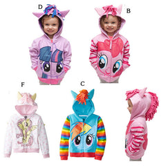 Kids My Little Pony Style Hoodies 1-8 Years