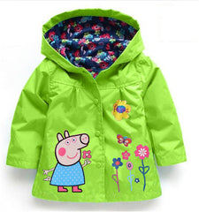 Adorable Peppa Pig Style Flower Raincoat