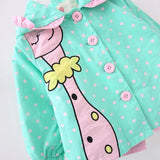 Little Girls Polka Dot Dino Baby Jacket 1-3 Years-Kids Jackets-Kids Bargain World