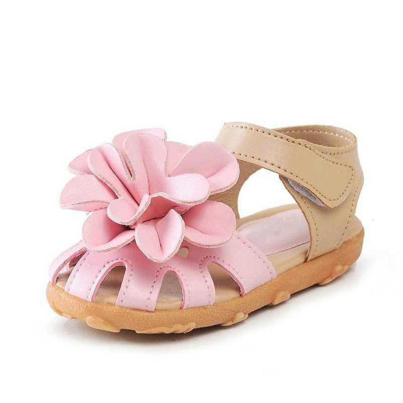 Summer Girl Big Flower Sandals 2-7 Years-Kids Footwear-Kids Bargain World