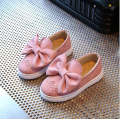 Kids Shoes Online - Cute Girls Slip-On Shoes With Bow 1-8 Y-Kids Bargain World