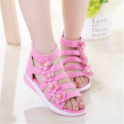 Gorgeous Spring/Summer Princess Cushioned Flower Sandals 2-11 Years
