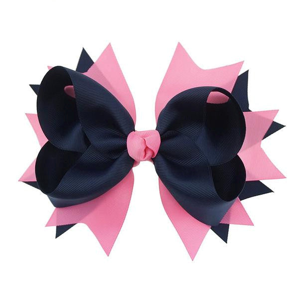 1PC 8 Inches Big Ribbon Flower Girls Hair Bow-Hairbows-Kids Bargain World
