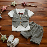 Little Gentlemans T-shirt -Vest And Shorts Set 6M-3Y-Kids Clothes-Kids Bargain World