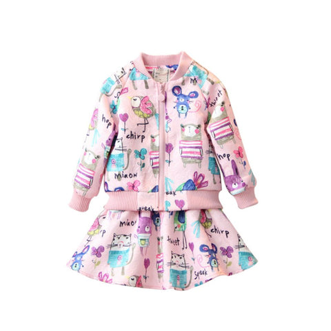 Girls Chirp And Squeak Jacket And Skirt Set 2-7 Years