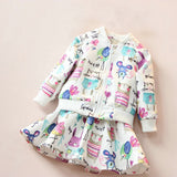 Girls Chirp And Squeak Jacket And Skirt Set 2-7 Years-Girls clothes-Kids Bargain World