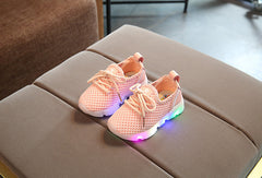 Kids Airmesh Multicolour Light Up Trainers 2-6 Y