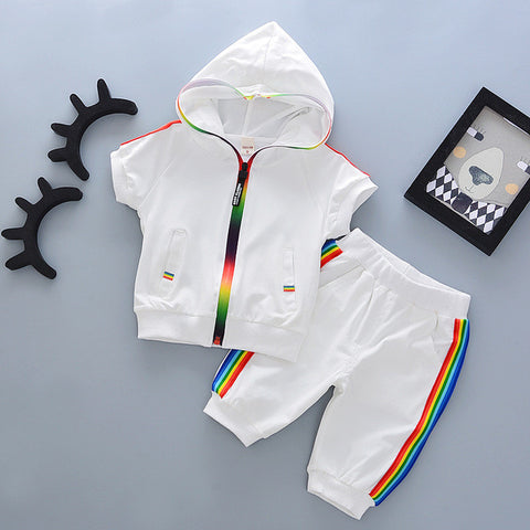 Kids Rainbow Striped Track Suit 18m-4Y