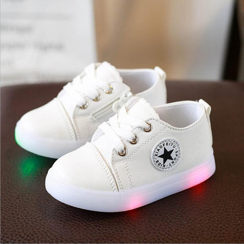 Kids Converse Style LED Light Up Trainers 2-7 Years