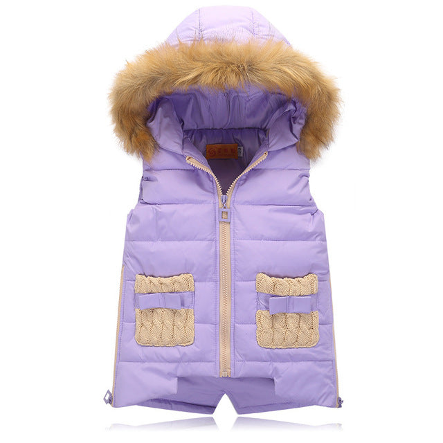 Premium Quality Ultralight Thick Hooded Gilet (4-10 Years)-Kids Bargain World
