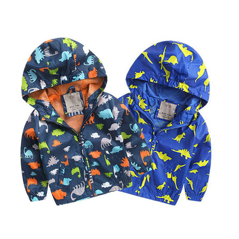 Kids Dinosaur Rain Coats 2-6 Years
