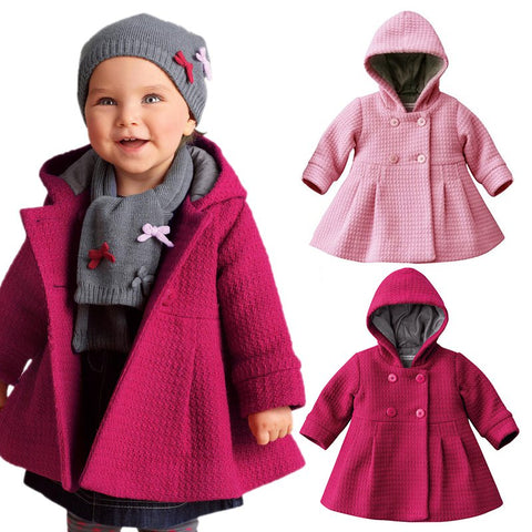 Adorable Winter Coat for Girls (1-3 Years)