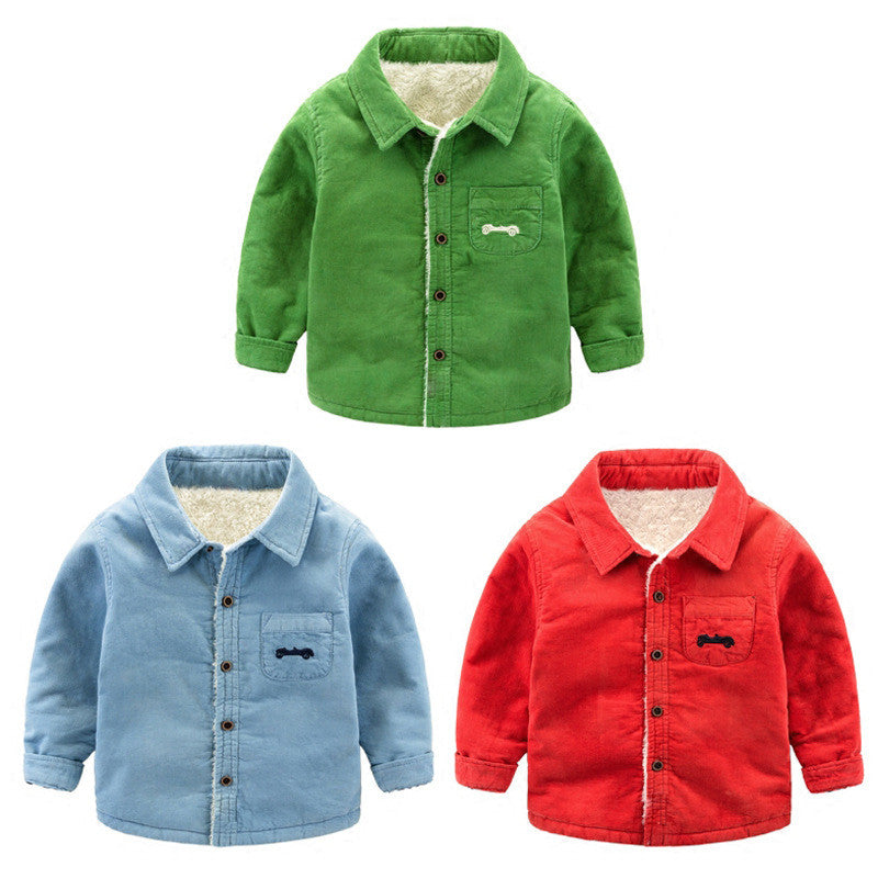 Boys Winter Velvet Jacket 1-4 Years-Winter jackets-Kids Bargain World
