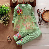 Cute Floral Winter Set for Girls (1-5 Years)-Girls clothes-Kids Bargain World