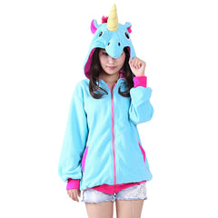The Lazy day Unicorn Zipper Hoodie-Ultra Cool Hoodies Sweats And Tee's-Kids Bargain World