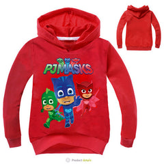 Kids 3-9 Years PJ Masks Style Hoodies