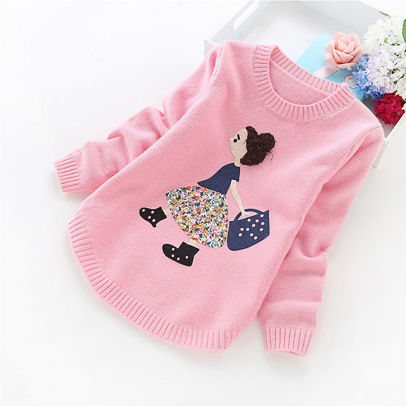Cute and Fancy Winter Sweater for Girls-Girls clothes-Kids Bargain World