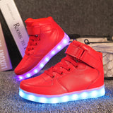 Cool Kids Thunder USB Rechargeable LED Trainers-Kids Footwear-Kids Bargain World