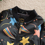 Kids Shooting Stars Bomber Jacket 2-7 Years-Winter jackets-Kids Bargain World