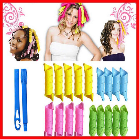 "The MAGIC ""NO HEAT"" HAIR CURLER KIT"