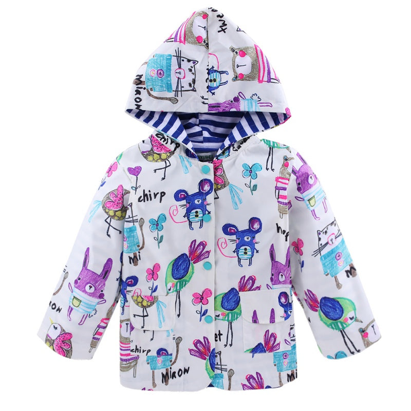 New Edition Chirp And Squeak Lined Rain Jacket 2-6 Years-Kids Jackets-Kids Bargain World