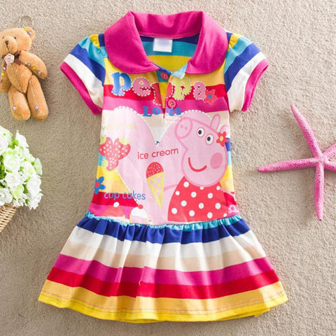 Kids Peppa Style Polka Dot Dress 18M-6Years