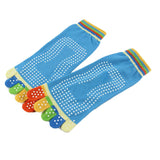 Super-cute Multi Color Full Toe Socks With Grips-Kids Clothes-Kids Bargain World
