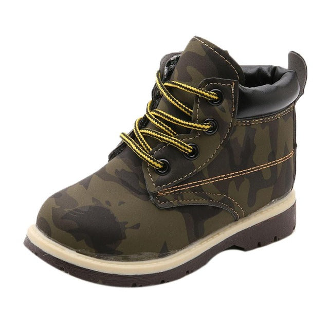 Cool Kids Army Timberland Style Boots-Kids Footwear-Kids Bargain World
