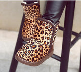 Kids Leopard Print Ugg Style Winter Boots (3-8 Years)-Kids Footwear-Kids Bargain World
