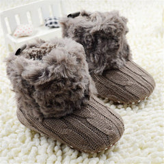 Gorgeous Fleece Knitted Baby Booties-Baby shoes-Kids Bargain World