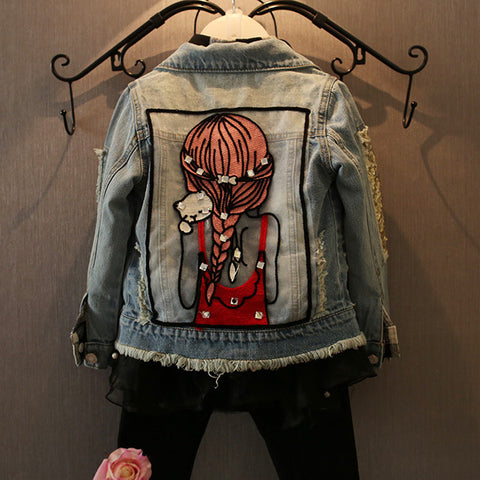 Little Girl Design Kids Denim Jacket (1-12 years)