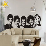 DIY black Wall Sticker One Direction Poster girls Bedroom Home Decoration Pictures Removable Wall Art wallpaper vinyl decals-Kids Bargain World