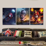 Kids Avengers Canvas Art 3 Piece Set-Kids Bargain World