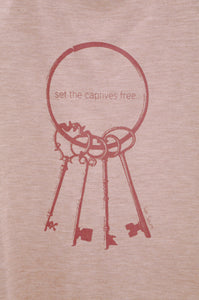 Top Keys - set the captives free, Kleidung & Schals, Sak Saum, LILLYPARK, ShowYourLove Taschenparty