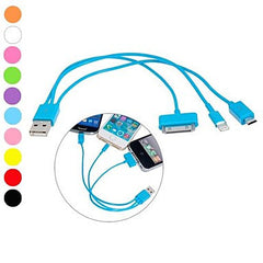 3- in-1 Lightning 8 Pin 30 Pin and Micro 5 Pin to USB Charging Cable