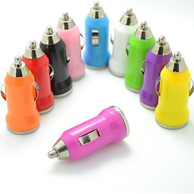 Colorful USB Car Charger for iPhone and Others (5V,1A,Assorted Colors)