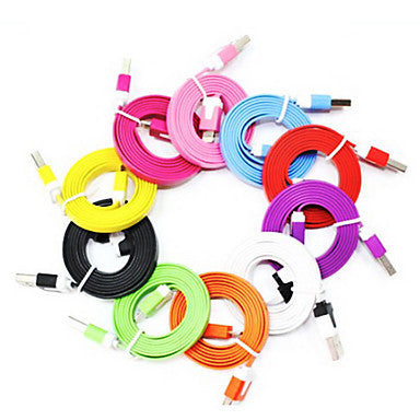 Noodle Colorful USB 2.0 data cable 10 Color 8 pin USB cable for iPhone 6 iPhone 6 Plus iPhone 5