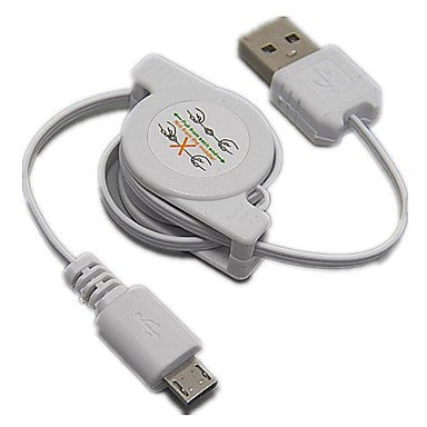 Retractable USB 2.0 to Micro USB Cables Sync Data Charge for HTC Samsung LG