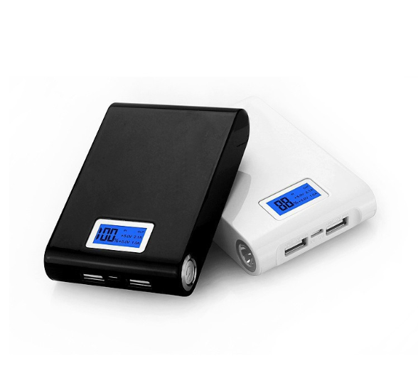 Dual usb LCD power bank 12000mah portable backup battery charger power bank