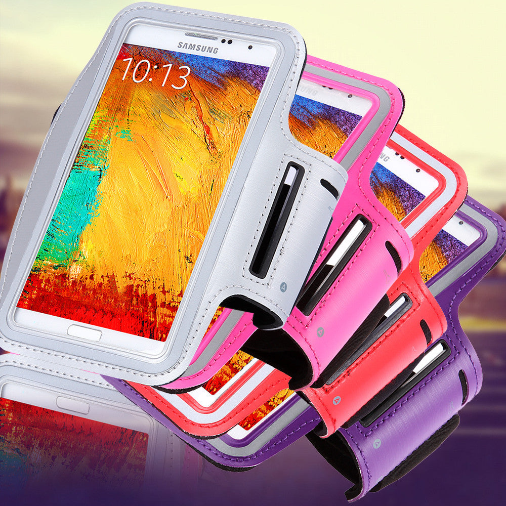 Waterproof Genernal Style PU Leather Case For Samsung Galaxy Note 1 2 3 4 N9100 Running Arm Band For Note4