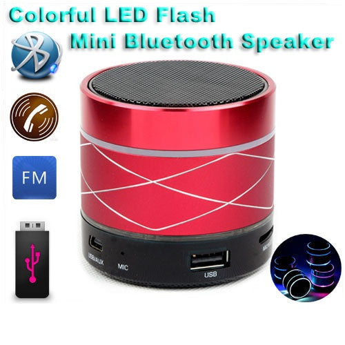 Bluetooth Speaker Mini USB Flash Disk Sound Card Multi-Function Colorful LED Portable Wileress Speaker FM Radio With Display
