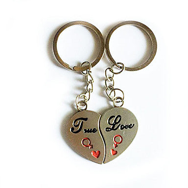 Stainless Lovers keychains (Hearts/ 2-Piece Set)
